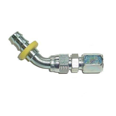 """Parker - Parker 3/8"""" Compression to 3/8"""" PushLok 45° Adapter (steel)"""