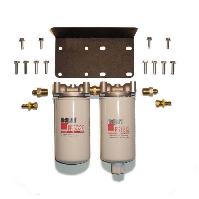 Rattlin' Truck and Tractor - Universal Twin Filter Kit (3 Mic Fuel & 20 Mic F/W Separator Combo)
