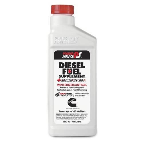 Power Service - Diesel Fuel Supplement +Cetane Boost 32 oz. Bottle