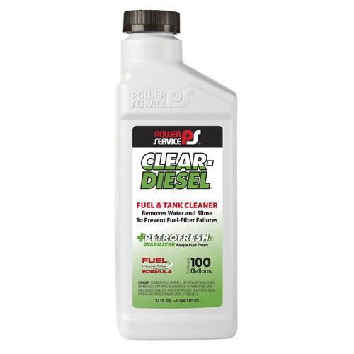 Power Service - Clear Diesel Fuel & Tank Cleaner 32 oz. Bottle