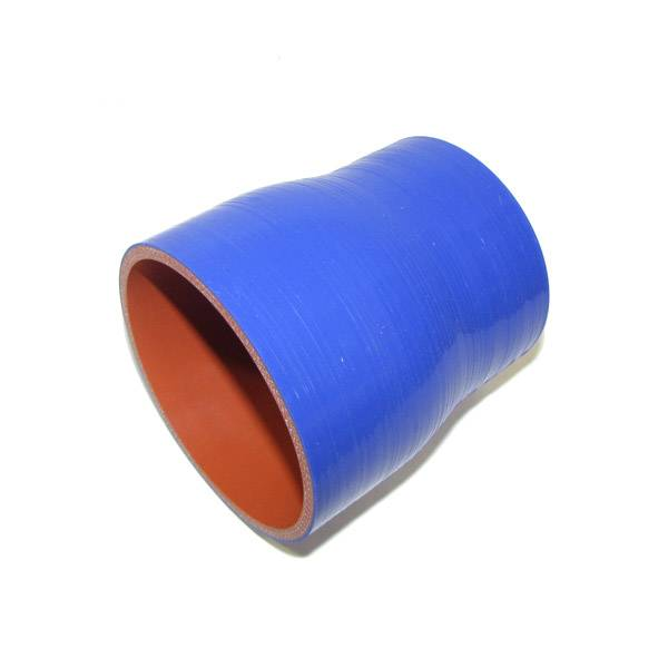 """Rattlin' Truck and Tractor - 3.00""""/3.50"""" ID X 4"""" L 4 Ply Silicone Reducer - Blue"""