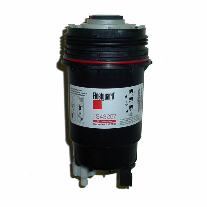 Fleetguard - '07.5-'09 Fleetguard FS43257 FS-2 Fuel Filter & Shell