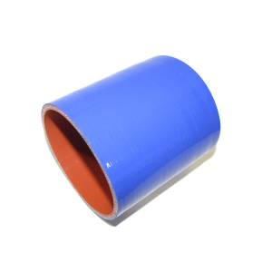 """Rattlin' Truck and Tractor - 3.50"""" ID X 4.00"""" L, 4 Ply Silicone IC Hose - Blue - Image 1"""
