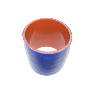 """Rattlin' Truck and Tractor - 3.50"""" ID X 4.00"""" L, 4 Ply Silicone IC Hose - Blue - Image 2"""